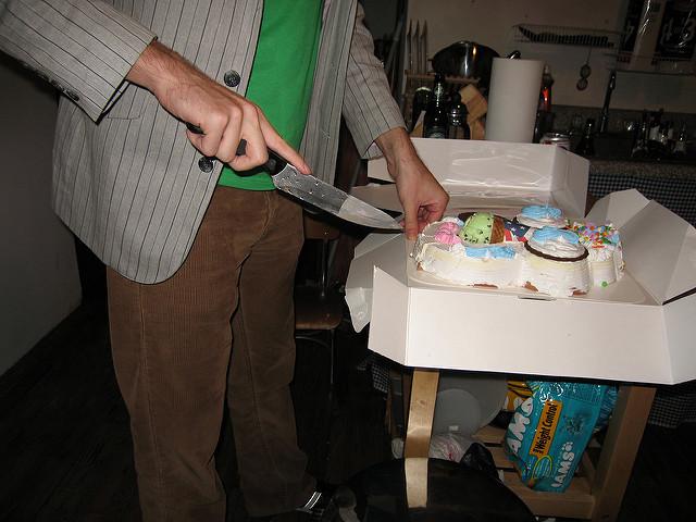ケーキの切り分け